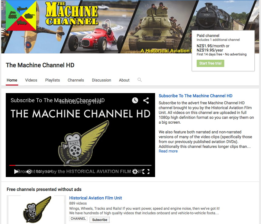 Machine Channel